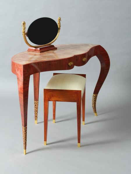 3 dressing room table pink ivory wood, yannick chastang 2014