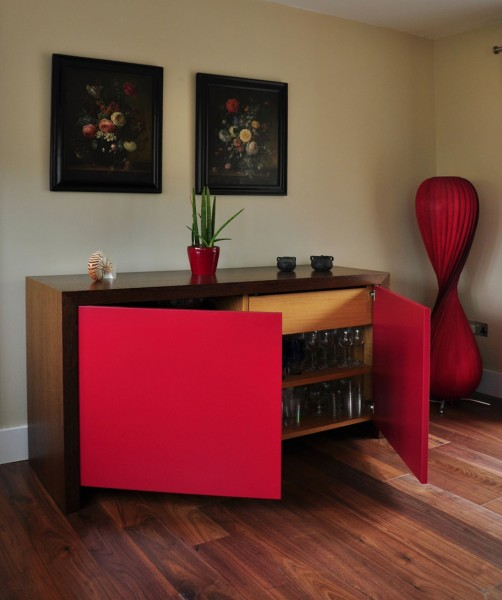 modern wenge and lacquer dining room buffet