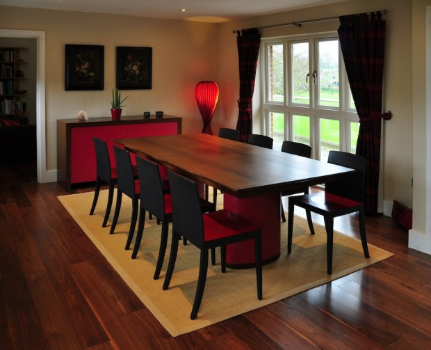 yannick chastang modern wenge and lacquer dining room furniture