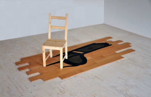 final chair and marquetry