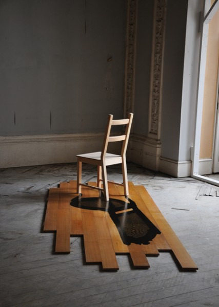 yannick chastang. art marquetry chair