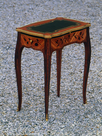 yannick chastang, louis xv table copy, made at 17, ecole Boulle
